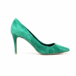 Elie Tahari Green Suede Leather Heels